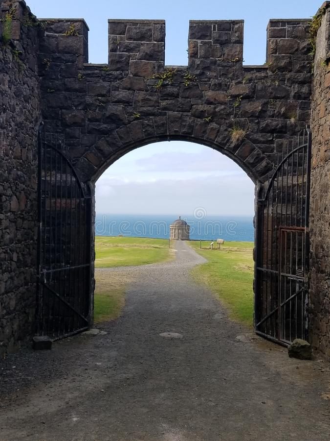 Mussenden temple royalty free stock photos