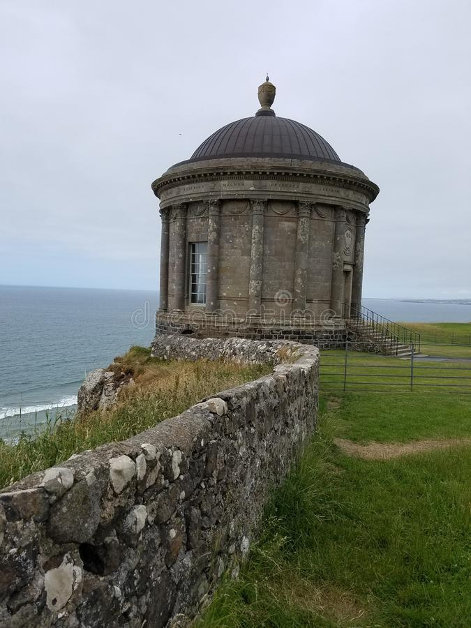 Mussenden temple cliff side royalty free stock images
