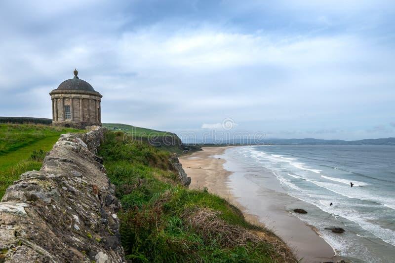 Mussendentempel, Noord-Ierland stock fotografie