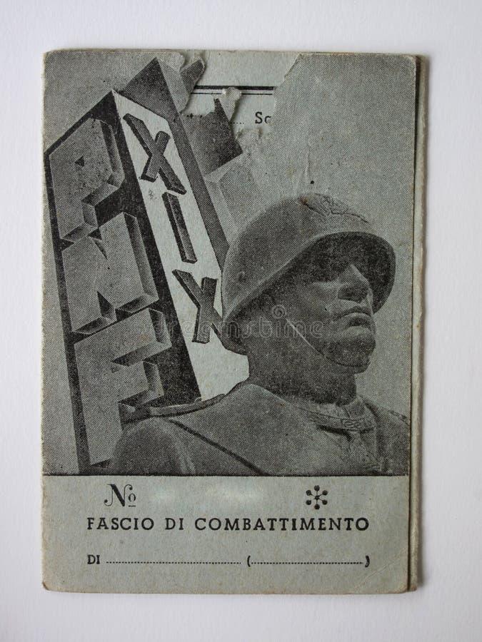 Mussolini imagen de archivo