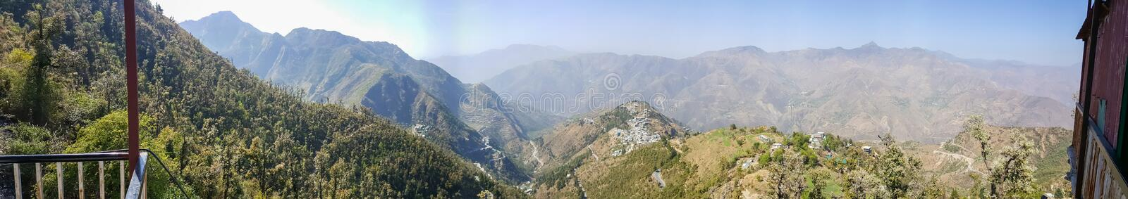 Mussourie, India. Himalayas never stop to enchant you. Closer to them, safer away from shows use the majestic city town of Mussourie. The views keep you spell royalty free stock photos