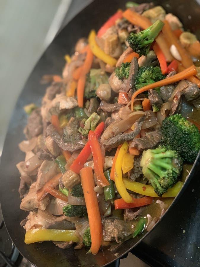 Asian inspired stir fry stock image