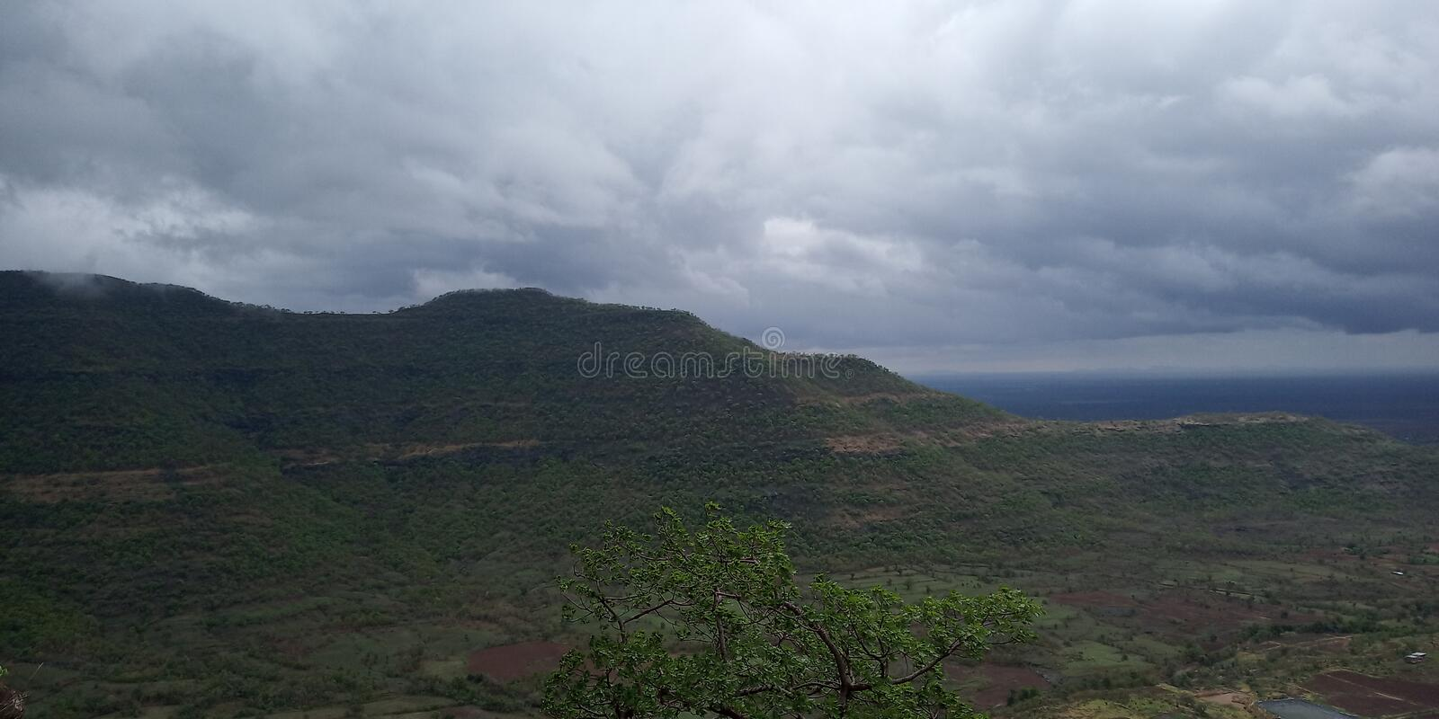An amazing view from mountain royalty free stock image