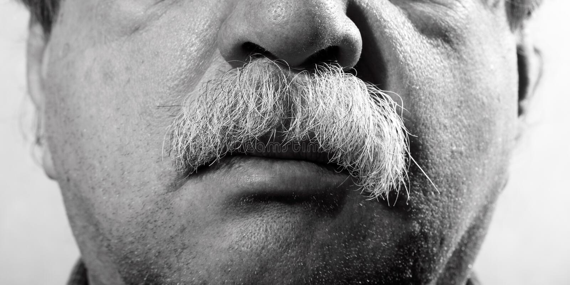 Mustache stock image