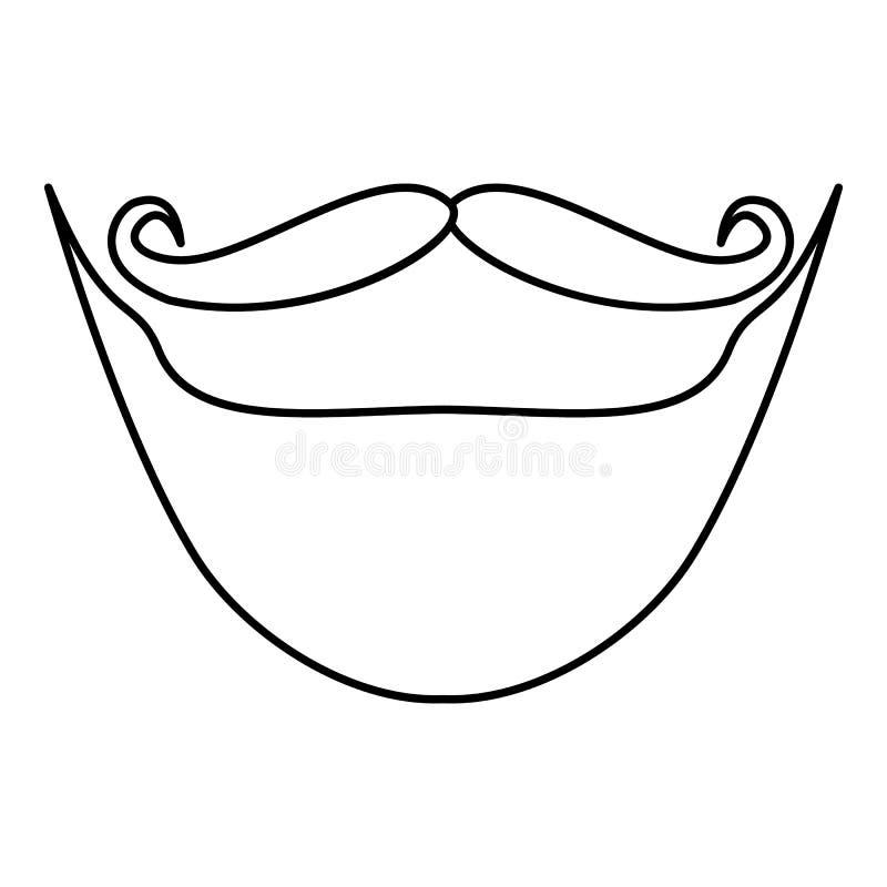 Beard outline - photo#39