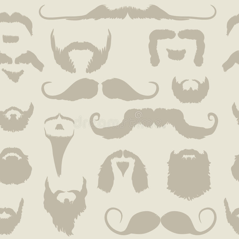 Download Mustache And Beard Set Seamless Pattern Stock Vector - Image: 15553979