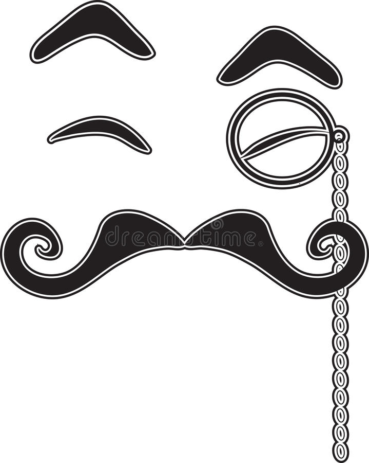 Download Mustache and Monocle stock illustration. Illustration of portrait - 22794974