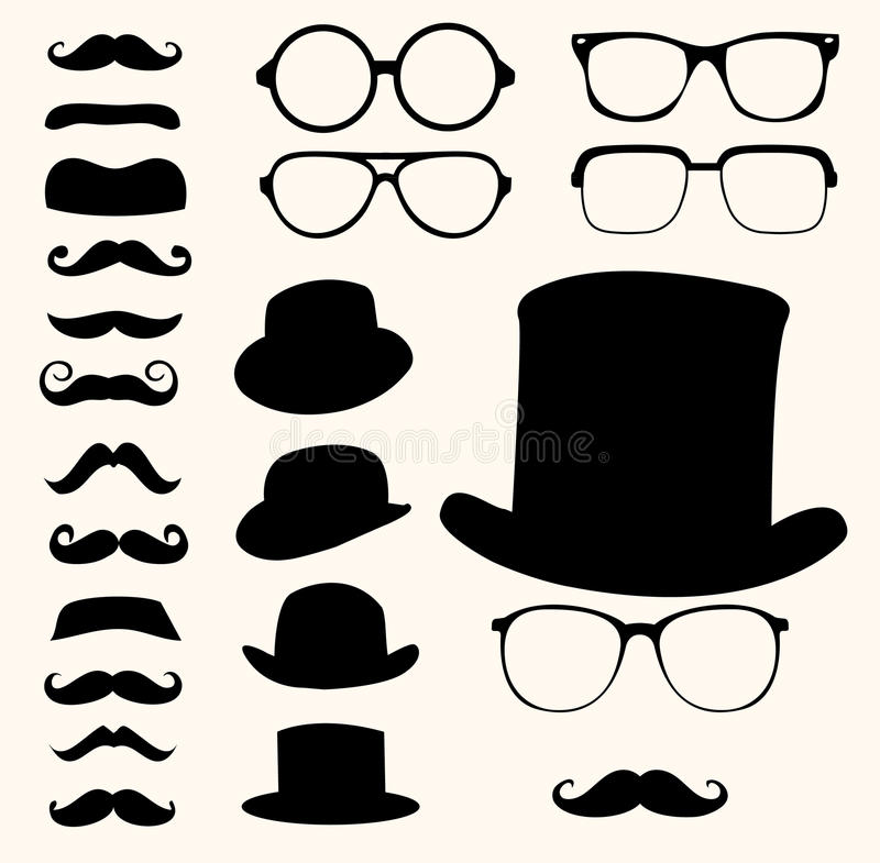 Free Mustaches Hats Glasses Stock Photos - 27685653