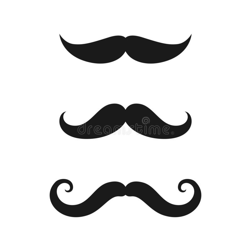 Mustaches old style icons set stock illustration