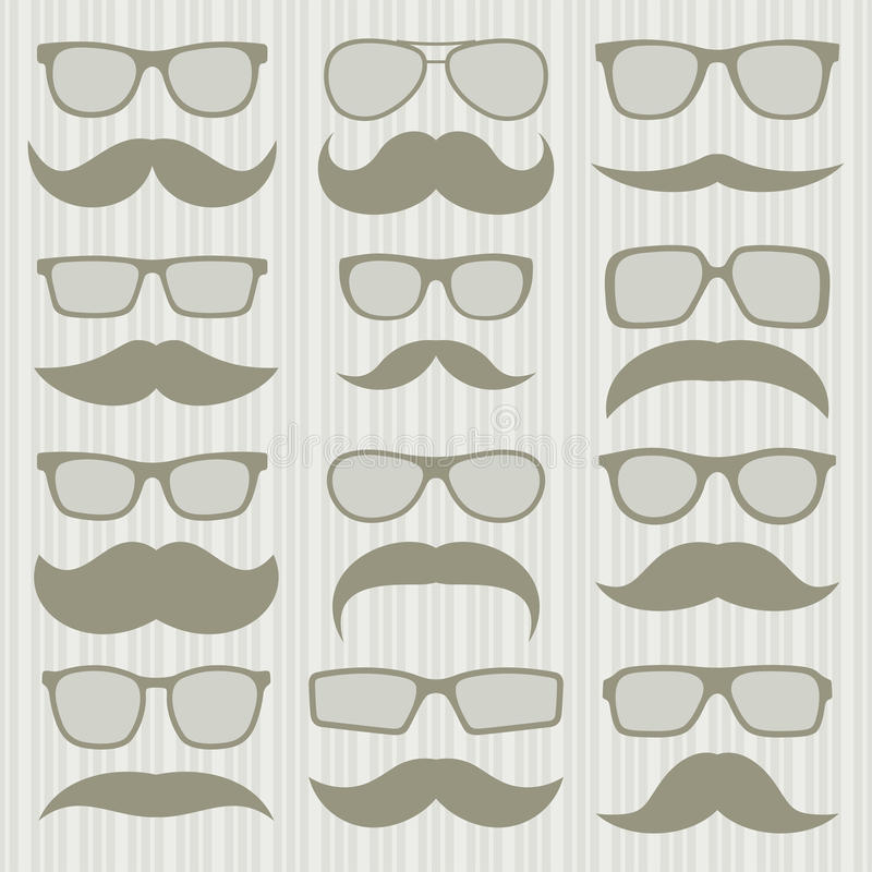 Download Mustaches set stock vector. Image of group, male, goatee - 30748492
