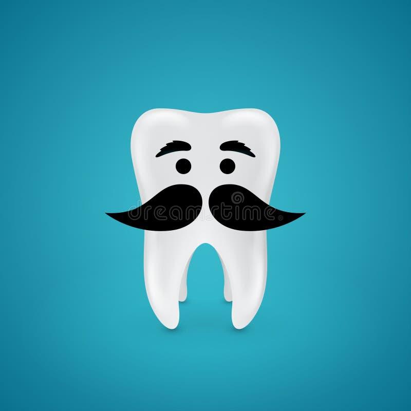 Mustachioedverstandskies vector illustratie