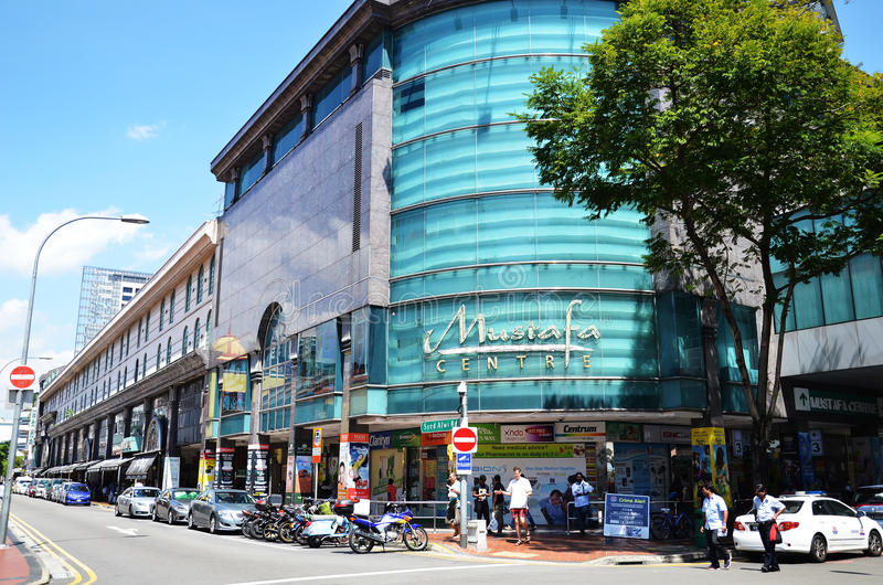 Mustafa Centre at Little India in Singapore. SINGAPORE - DEC 3, 2016: Mustafa Centre at Little India in Singapore, it is one of Singapore`s 24-hour shopping mall royalty free stock image