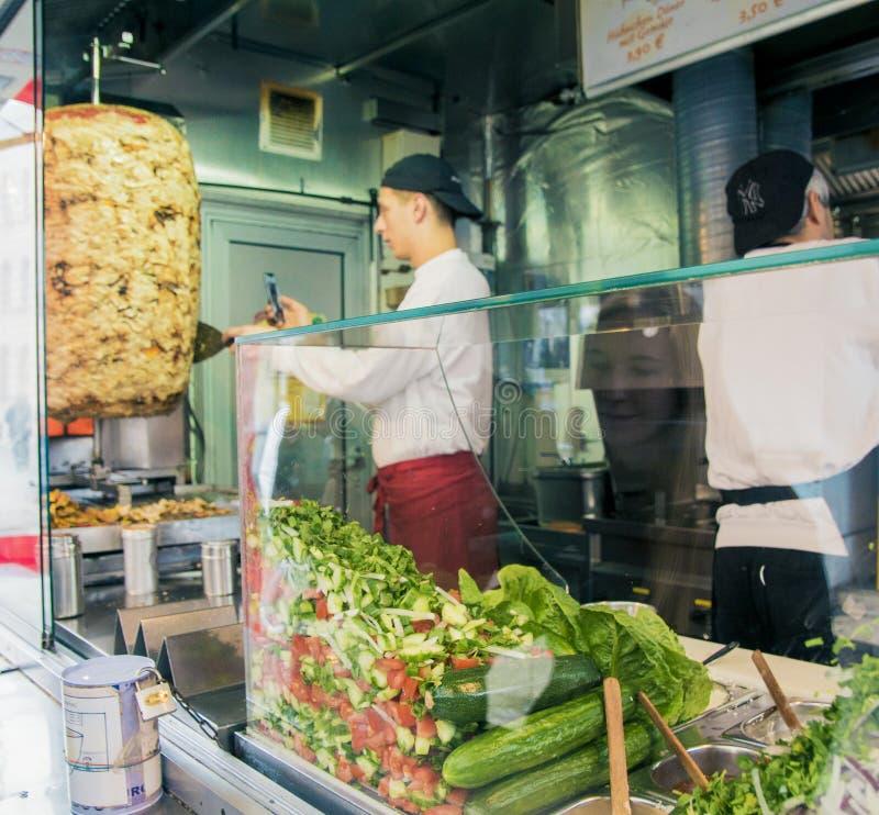 Mustafa Gemuese Kebab w Berlin obrazy royalty free