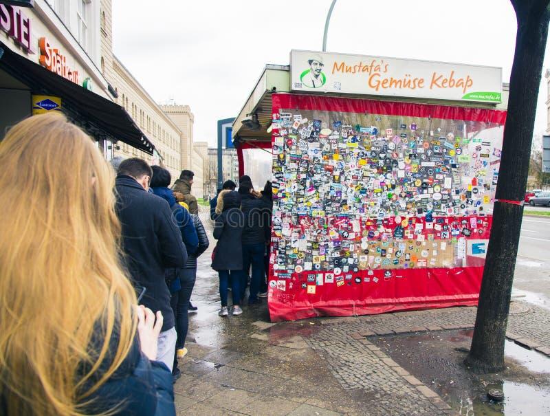 Mustafa Gemuese Kebab w Berlin obrazy stock