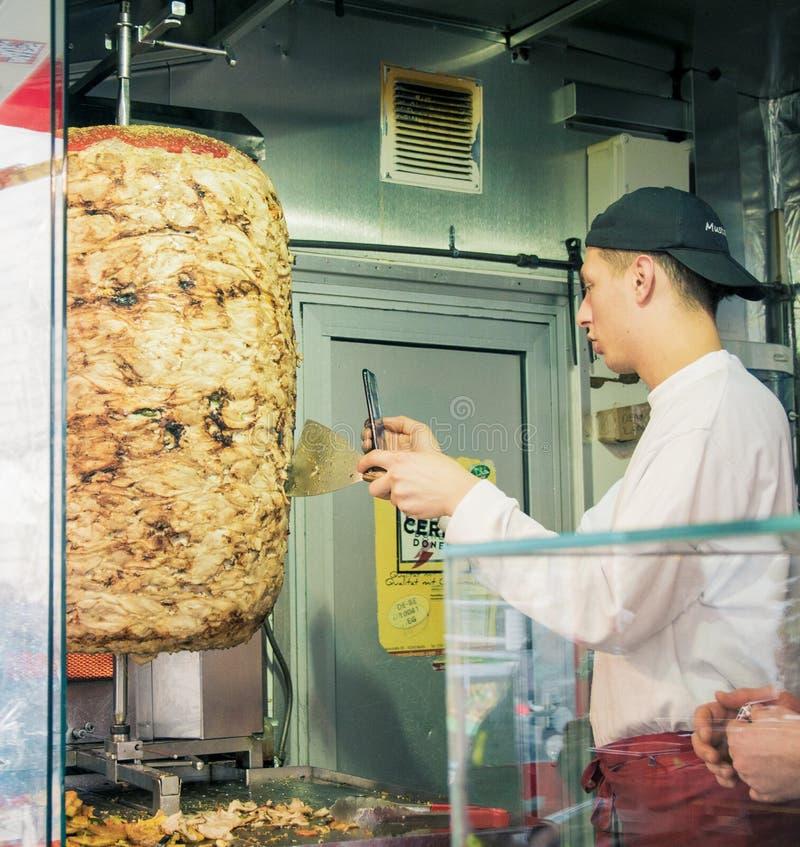 Mustafa Gemuese Kebab w Berlin zdjęcie stock