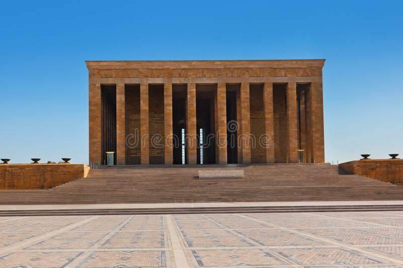 Mustafa Kemal Ataturk陵墓在安卡拉土耳其 免版税库存图片