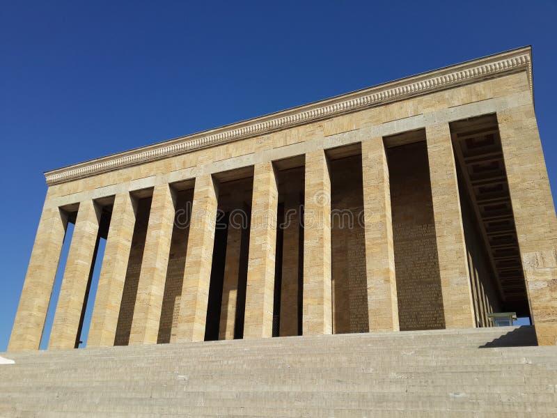 Mustafa Kemal Ataturk mauzoleum w Ankara Turcja obraz royalty free