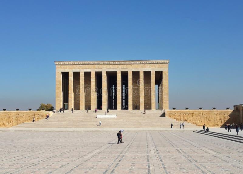 Mustafa Kemal Ataturk mauzoleum w Ankara Turcja zdjęcia royalty free