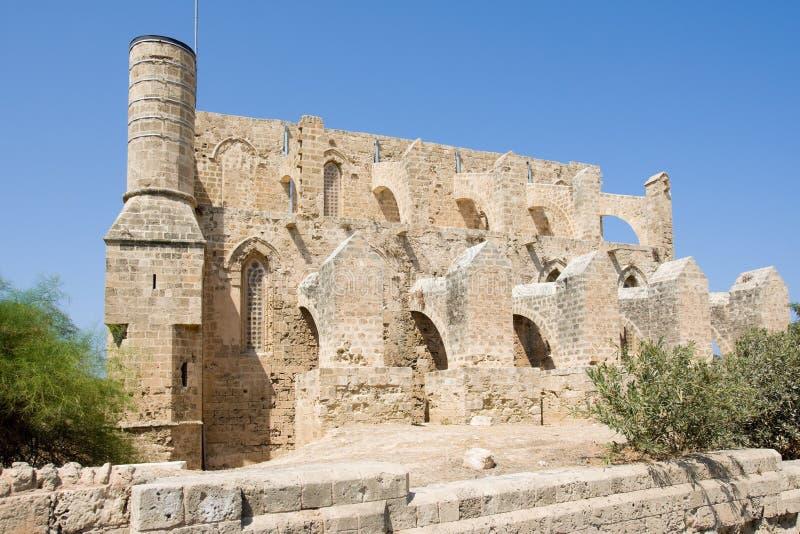 Mustafa Pasha Mosque em Chipre norte ocupado pelos turcos, Famagusta fotos de stock
