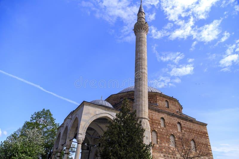 Mustafa Pasha Mosque Skopje, Makedonien royaltyfri bild