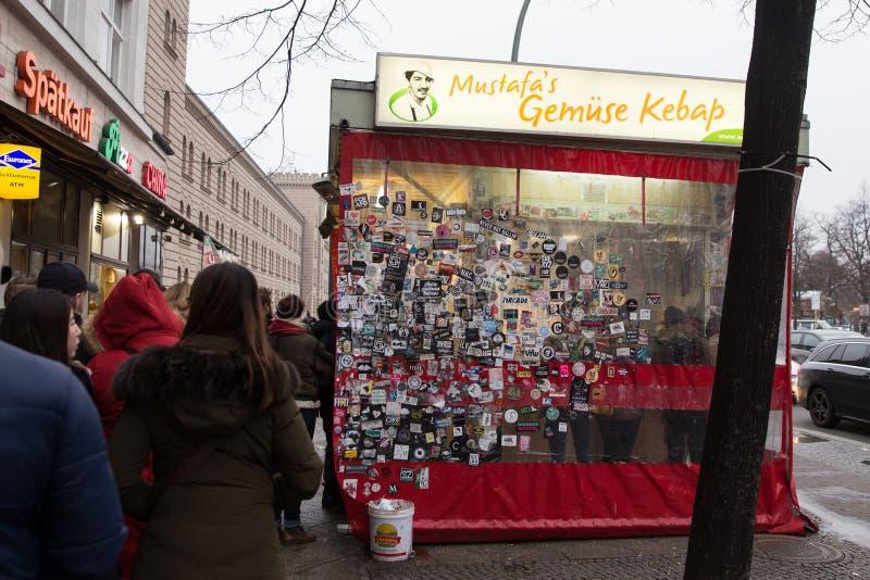 Mustafas Gemuse Kebap a Berlino, Germania fotografia stock libera da diritti