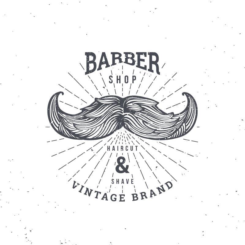Mustage de la peluquería de caballeros ilustración del vector