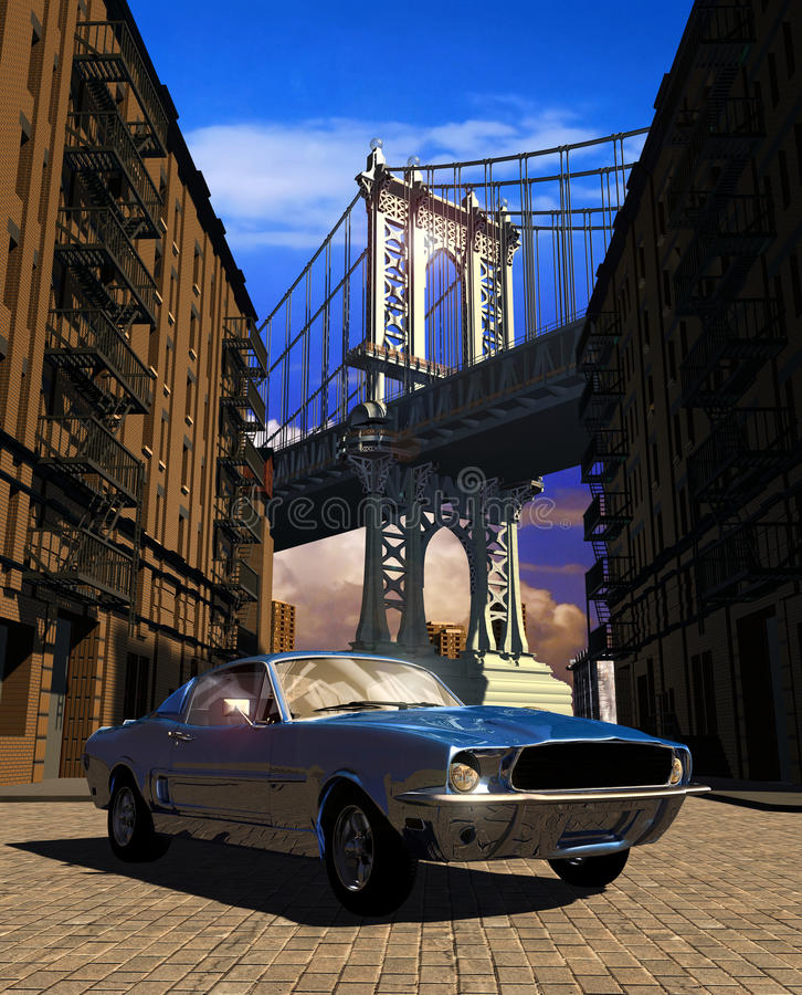 Mustang 1967 a Manhattan fotografia stock