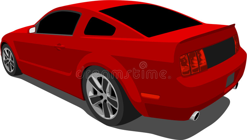 Mustang 2008 del Ford di vettore GT illustrazione di stock