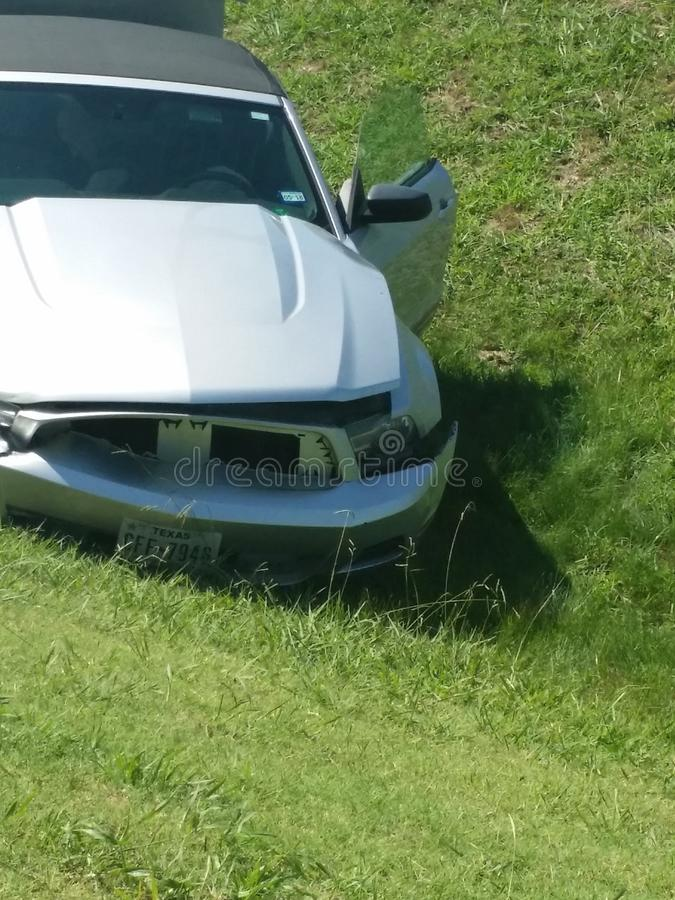 Mustang Accident stock photo