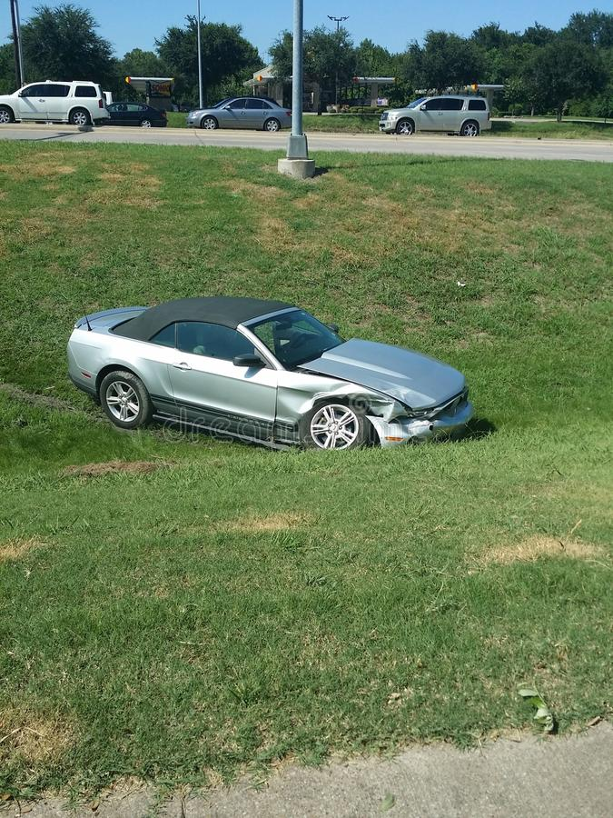 Mustang Accident stock photography