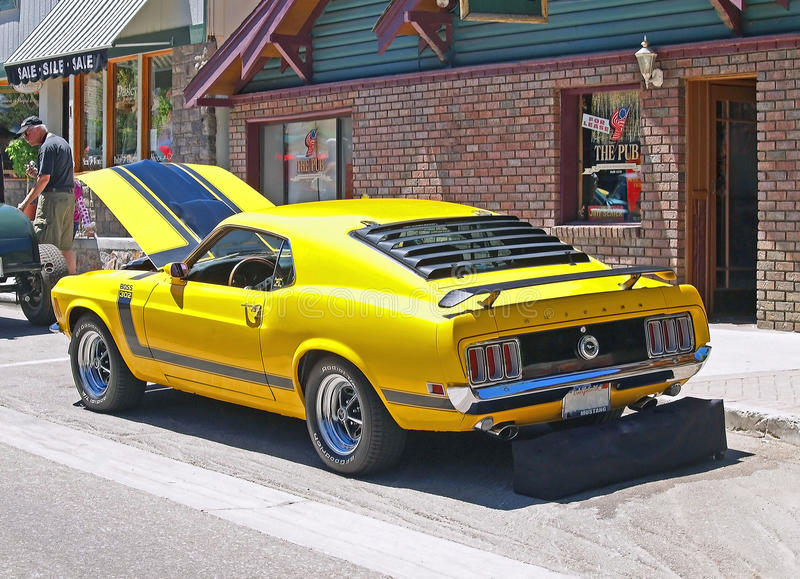 Mustang Boss 302 stock images
