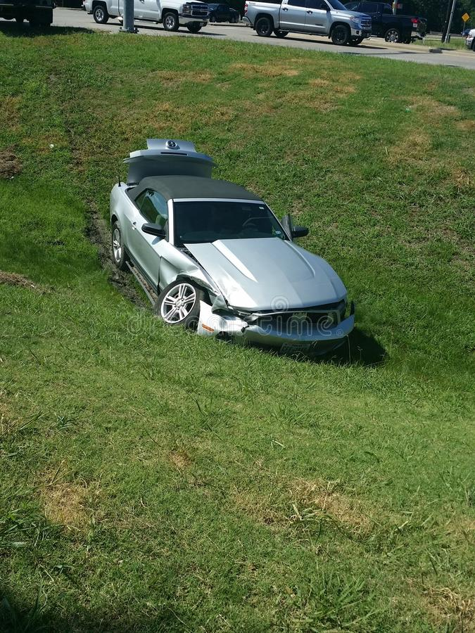 Mustang Accident stock image
