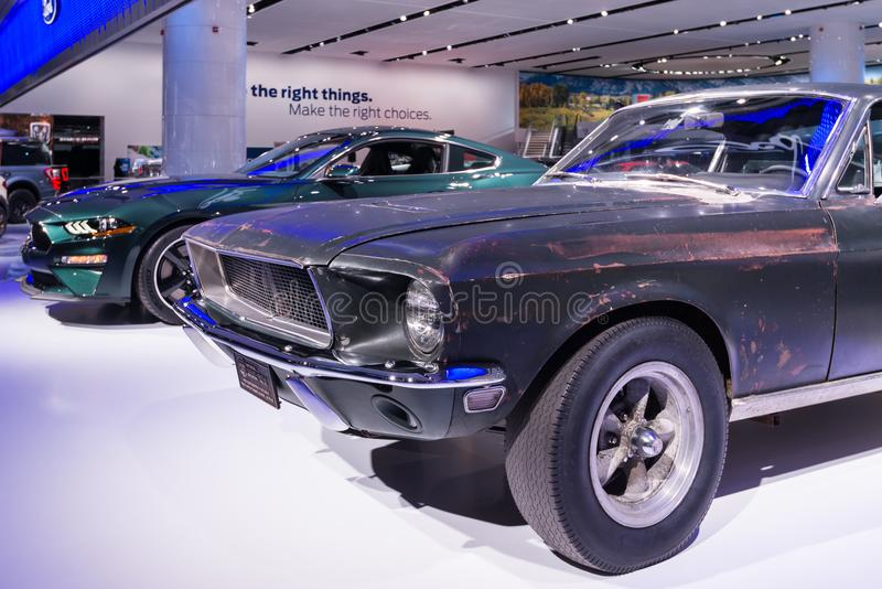 1968 Mustang driven by Steve McQueen in the movie `Bullitt` royalty free stock images