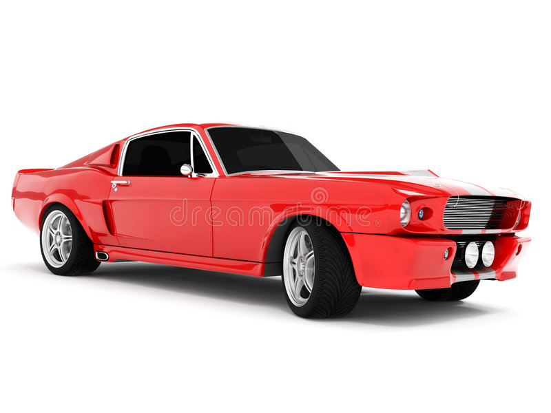 Mustang GT500 di Shelby immagine stock