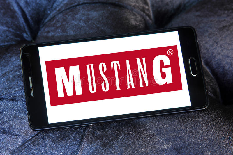 mustang jeans logo editorial stock image. image of lacoste - 92667414