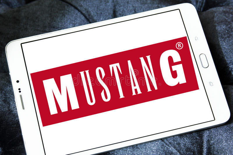 mustang jeans logo editorial stock photo. image of icon - 98386008