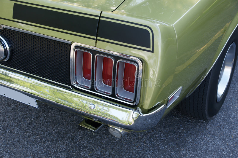 Download Mustang Mach1 Rear End stock photo. Image of bolide, classic - 6169262