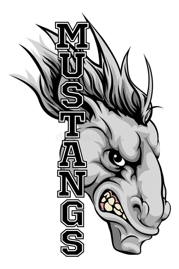 Mustang maskotka royalty ilustracja