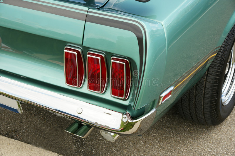 Download Mustang Rear End stock photo. Image of affiche, rear, auto - 6419704