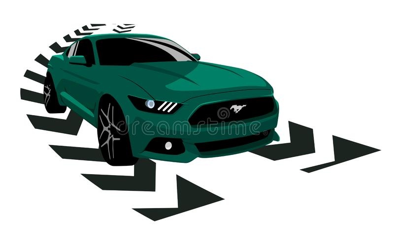 Mustang Shelby GT 350 royalty free illustration