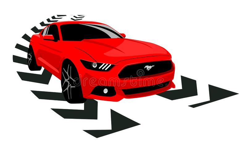 Mustang Shelby GT 350 ilustracji