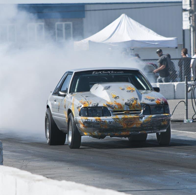 Mustangluftwiderstandauto stockbild