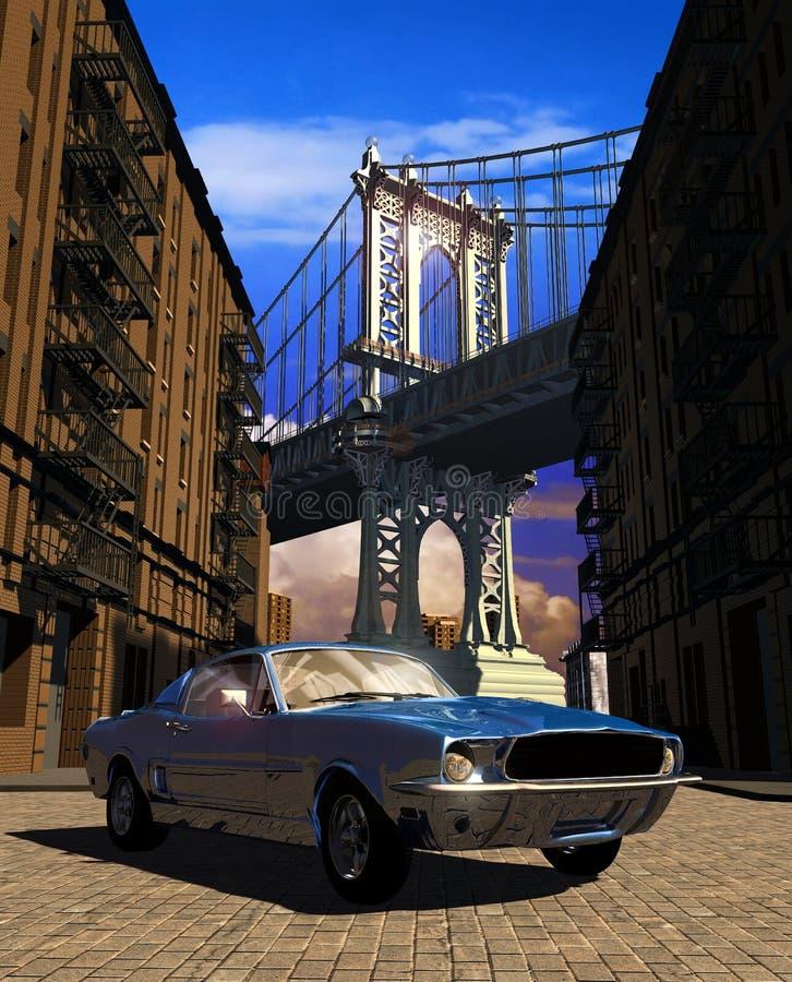 Mustango 1967 en Manhattan foto de archivo
