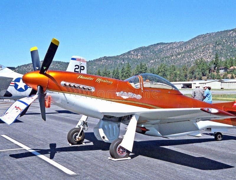Mustango de la reproducción P-51 fotografía de archivo libre de regalías
