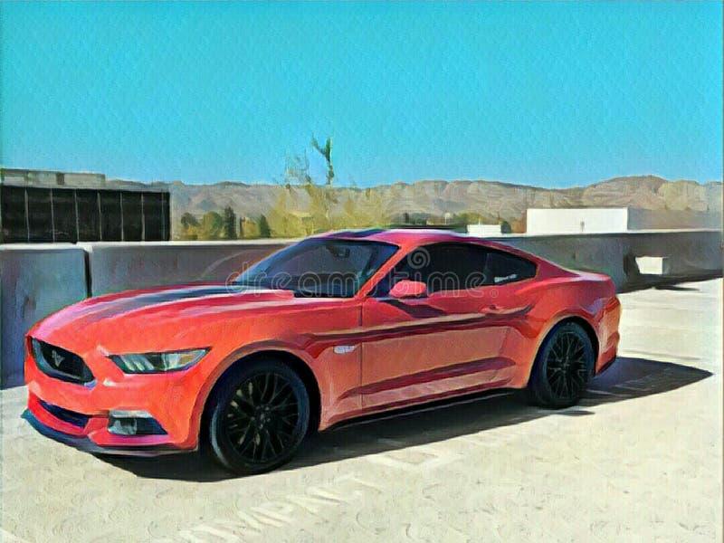 Mustango pintado ilustración del vector