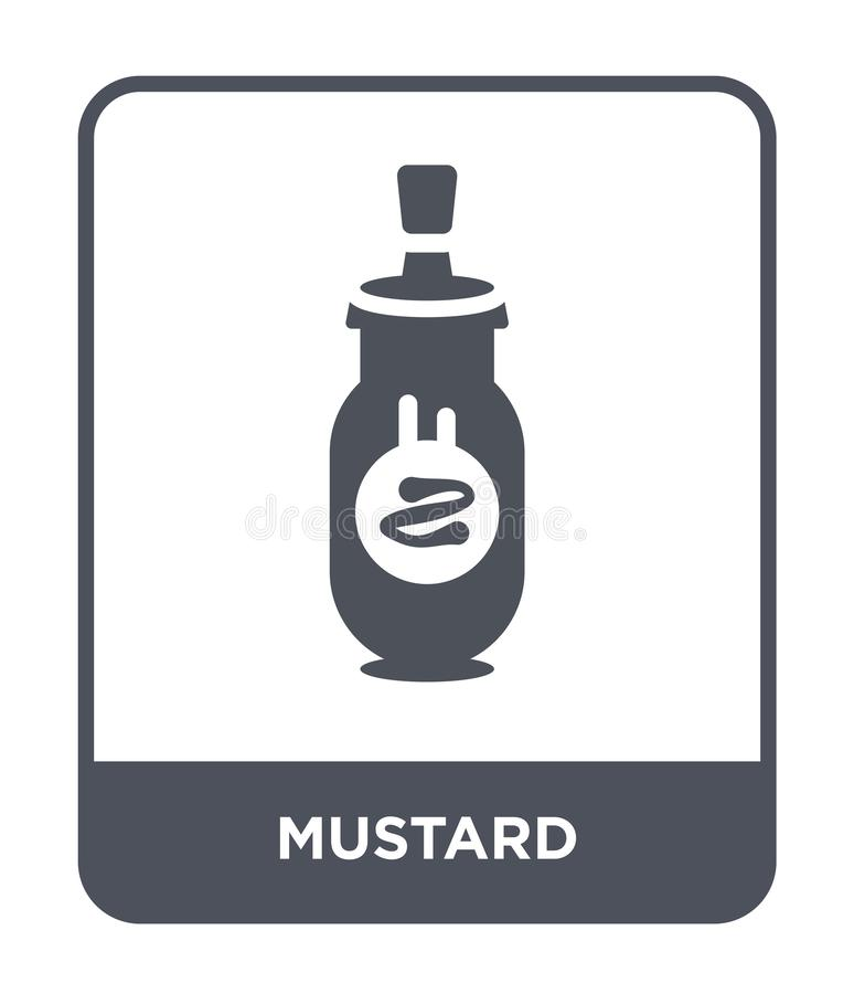 mustard icon in trendy design style. mustard icon isolated on white background. mustard vector icon simple and modern flat symbol royalty free illustration
