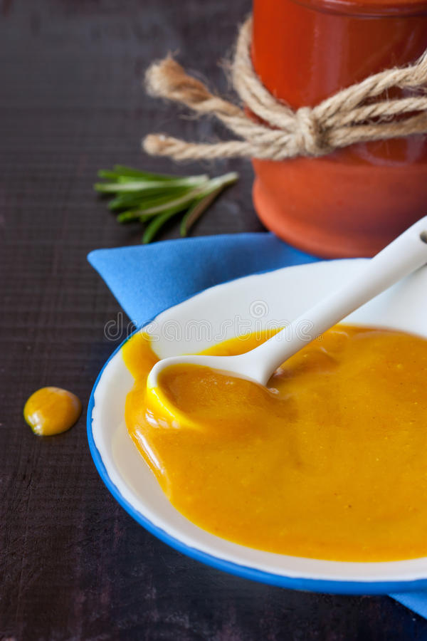 Download Mustard sauce. stock photo. Image of meal, homemade, plate - 23993190