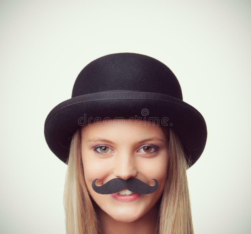 Mustasch fotografering för bildbyråer