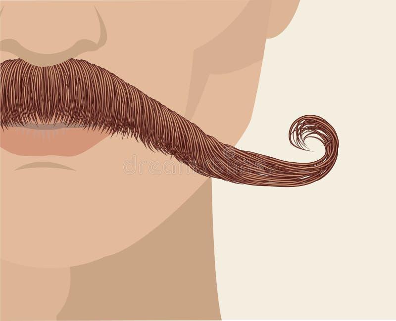 mustasch för bakgrundsframsidaman royaltyfri illustrationer