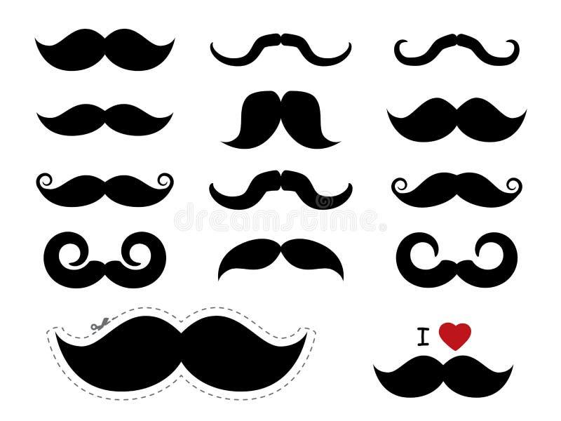 Mustaschsymboler - Movember vektor illustrationer